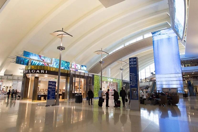 My flight departed from the Tom Bradley International Terminal in Los Angeles.