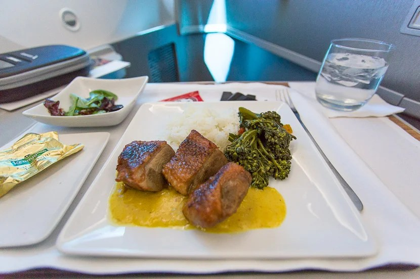 It may not look like much, but this was absolutely the best entrée I've ever received in business class on any airline.