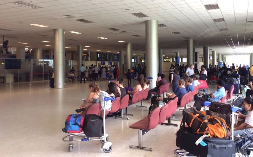 Pre-security at the Colombo Airport.