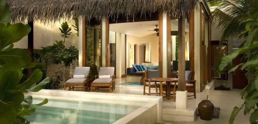 Conrad Maldives Deluxe Beach Villa.