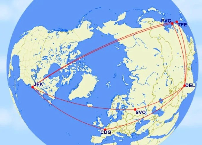 JFK DEL routes