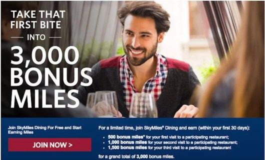 Maximize your dining purchases to earn big miles.