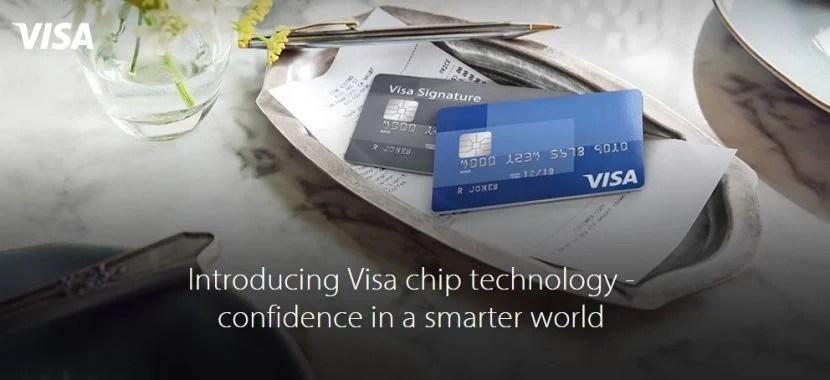 Visa chip card banner