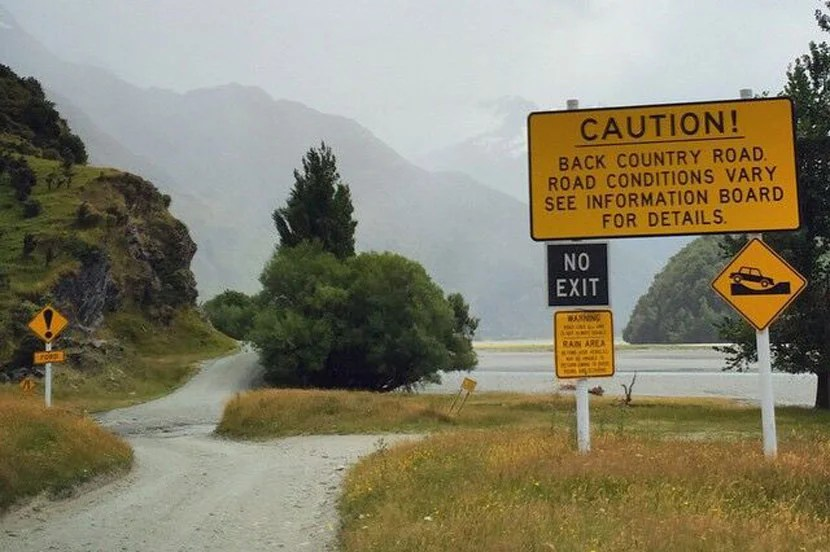 Be careful while driving around New Zealand, especially in wet weather.