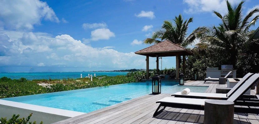 The Pool at Grace Sands Bay in Turks & Caicos.