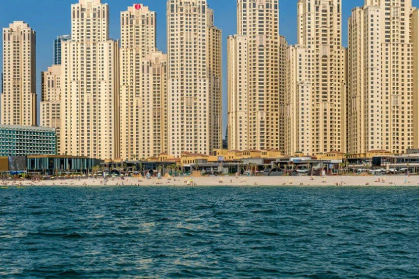 The massive Jumeirah Beach Residences compound includes the Ramada Plaza. Image courtesy of Wyndham.