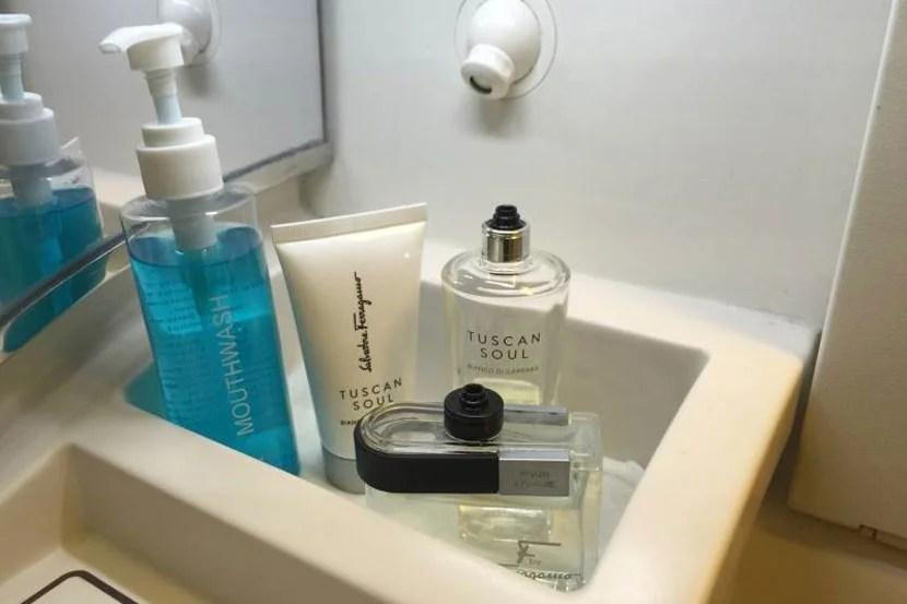 soaps in Suites bathroom