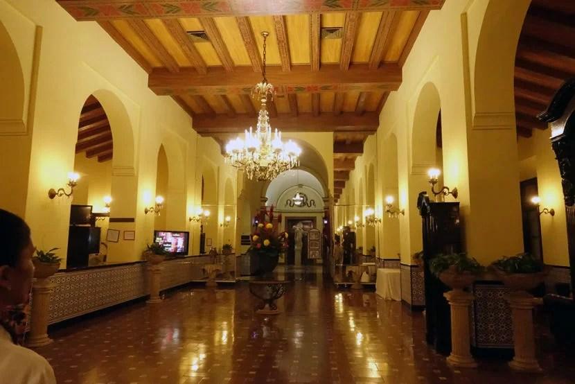 The beautiful lobby of Hotel Nacional.