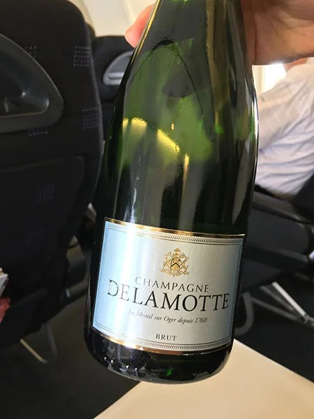 A glass or two of Delamotte Champagne? Yes, please!