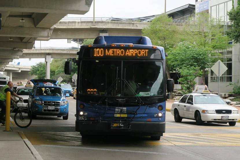 The Austin Airport Flyer is an easy and cheap way of getting to or from the airport.
