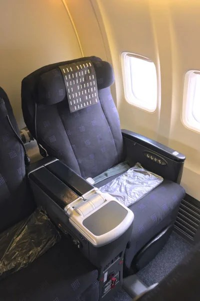 JAL's four-way-adjustable recliners are exceedingly comfortable for a few hours.