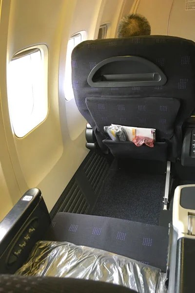 The impressive pitch is a good ten inches above most US domestic first-class products.