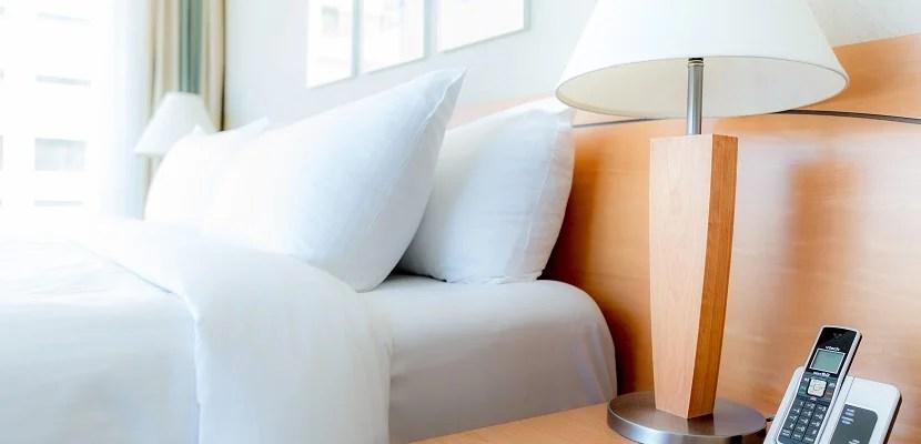 Marriott Delta Vancouver Suites bed featured