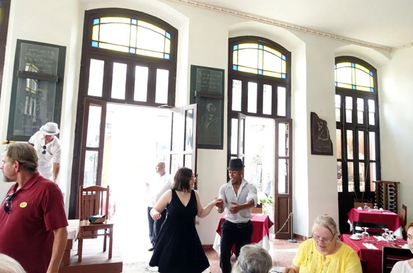 Lunch at Cafe Taverna was certainly an event! We were treated to live Cuban music and a free dance lesson.