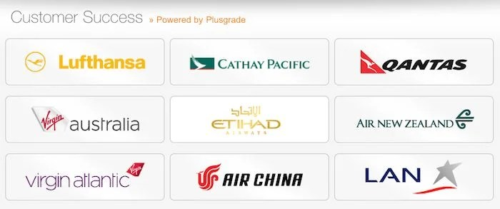 Most airlines' upgrade bidding systems are powered by Plusgrade.