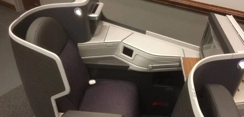 aa business class seat mockup featured