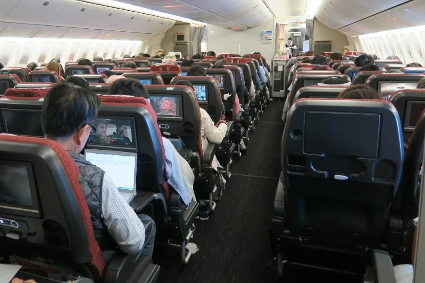 Even with a close to capacity economy cabin, this JAL flight was comfortable and the service was good.