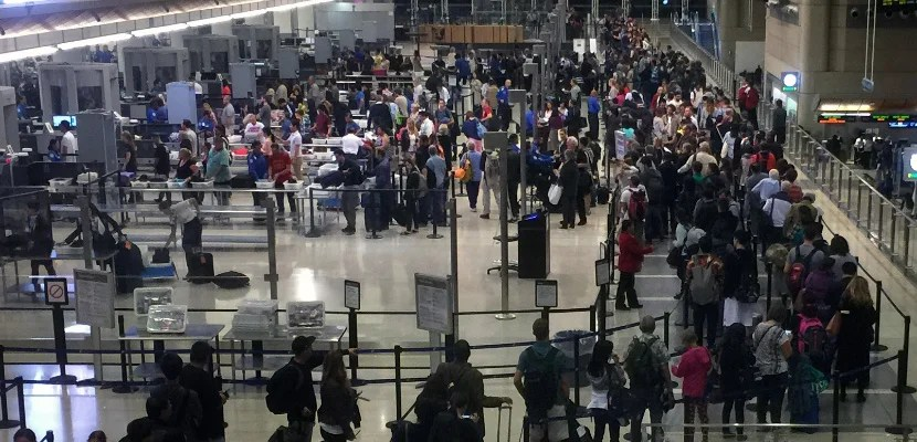 Try not to travel at a time when the security checkpoints will look like this.