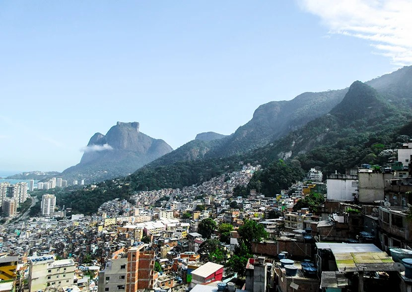 The breathtaking view from Rocinha.