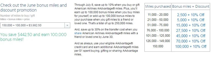 Earn 100,000 bonus miles when you maximize your mileage purchase.