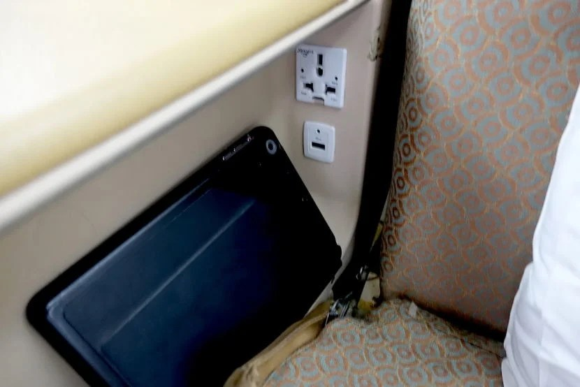 Power outlets.