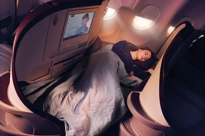 Air Serbia's business-class cabin has 18