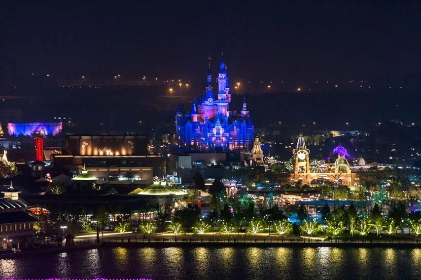 Shanghai Disneyland at night.
