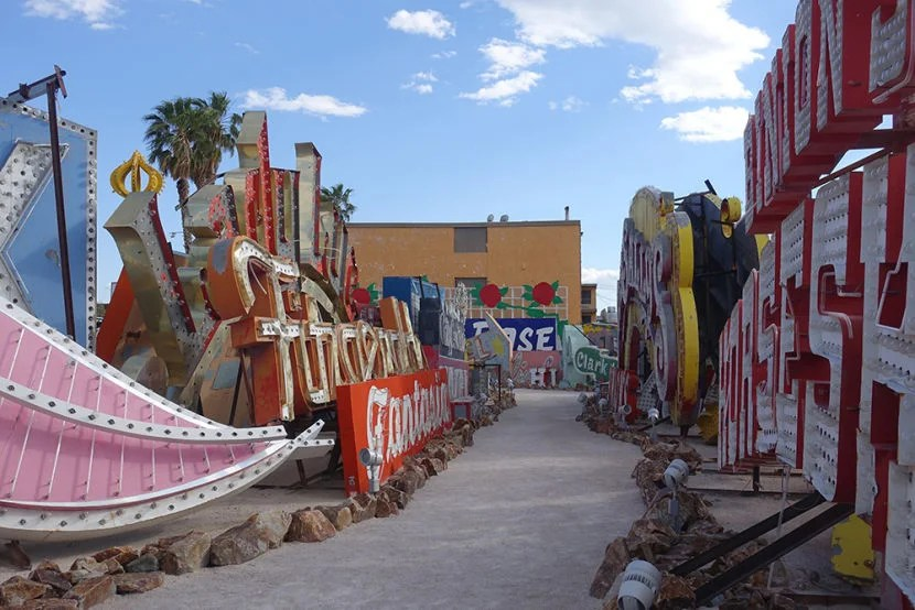 The Neon Museum is an outdoor exhibit that gives visitors a look at the Vegas of the past.