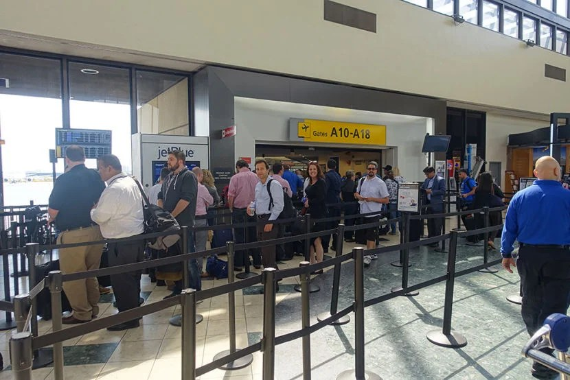 Terminal A was built in the 1970s so security checkpoints are crowded and inefficient.