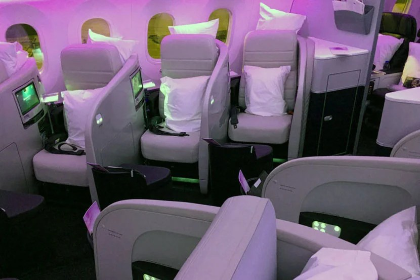 You can fly the Air New Zealand Dreamliner in business from Asia to New Zealand for just 80,000 miles round-trip.