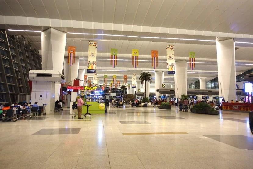 Inside New Delhi's international terminal.