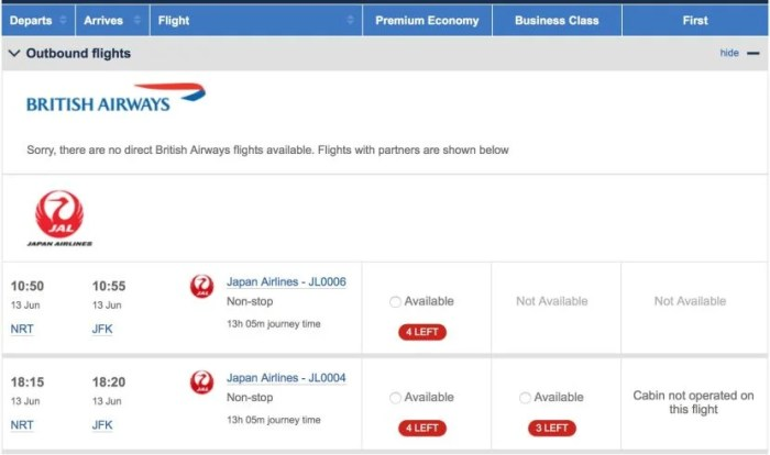 Watching for availability on the British Airways site definitely paid off.