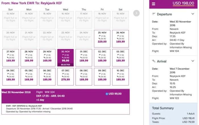 Round-trip flights between EWR and KEF start at $198.