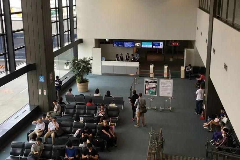 The boarding area.