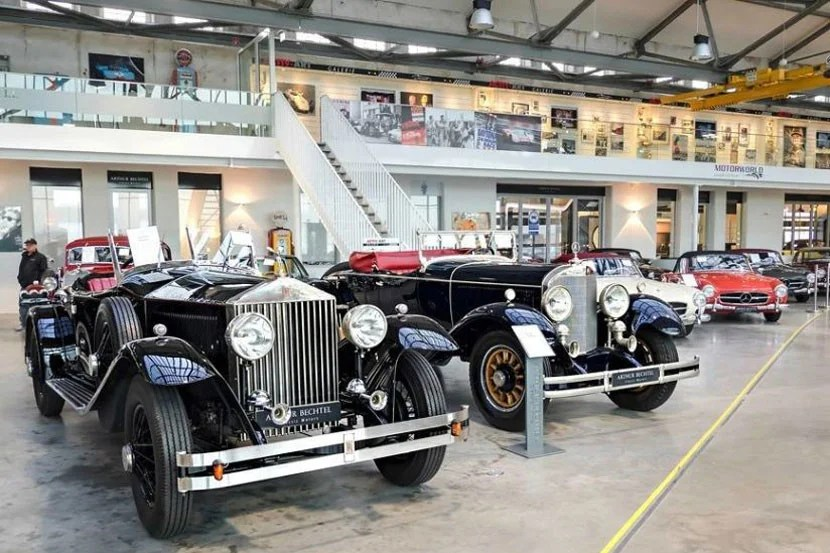 Take a ride to the past at the Motorworld museum. Image courtesy of the V8 Hotel.