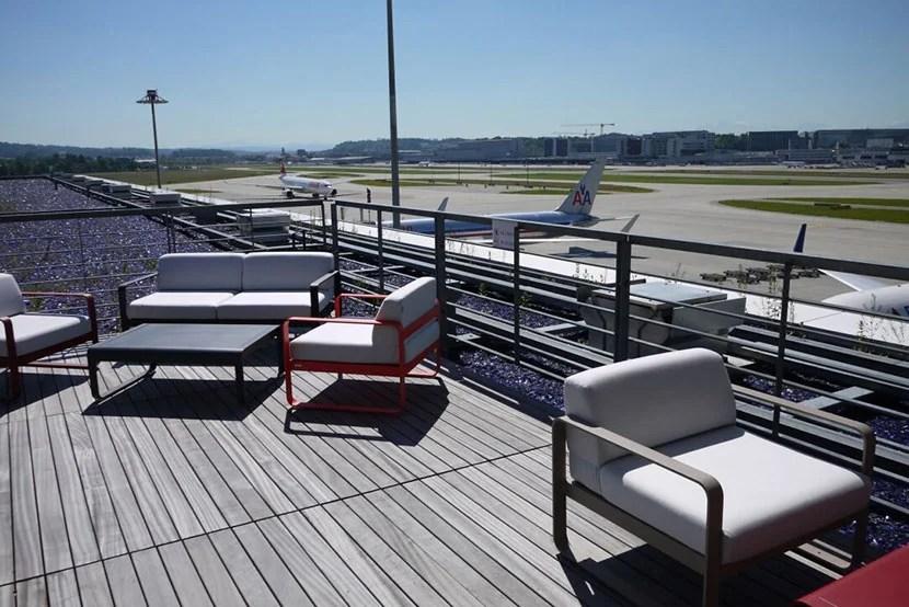 Swiss First Lounge Terrace