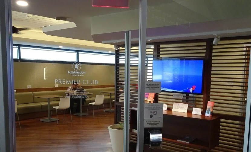 You'll gain access to the Hawaiian Airlines Premier Club at OGG by scanning your boarding pass.