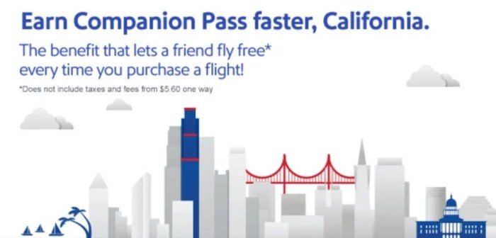 Earn the Companion Pass for free.