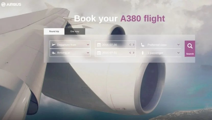 Quickly and easily find flight options with legs on the Airbus A380 through Airbus' new website.
