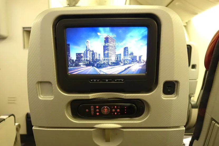 The IFE screens in economy space + are 10 inches.