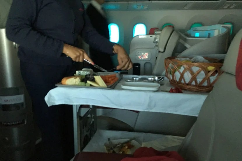 This was definitely a unique touch to Royal Air Maroc.