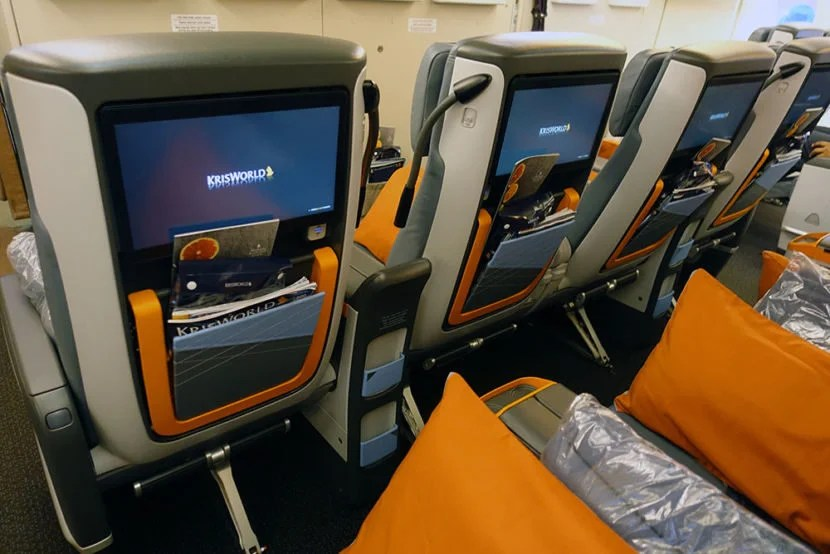 The premium economy IFE screens were large and perfect for watching movies on the flight.