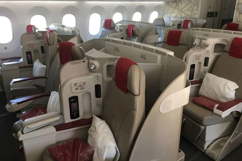 Royal Air Maroc has a 2-2-2 configuration in business class.