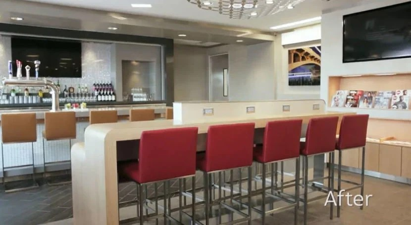 The newly completed Admirals club in Phoenix (PHX).