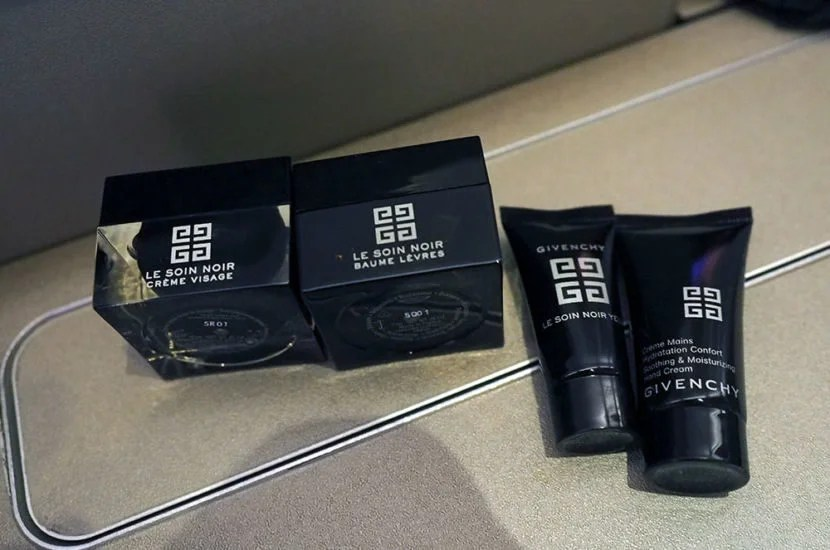 Inside, the Givenchy products were great as well, but the black facial moisturizer threw me off.