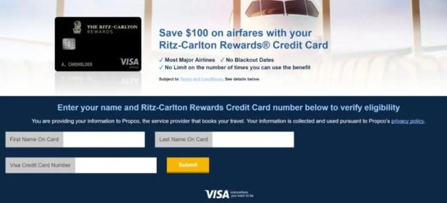 Visa Discount Air Benefit