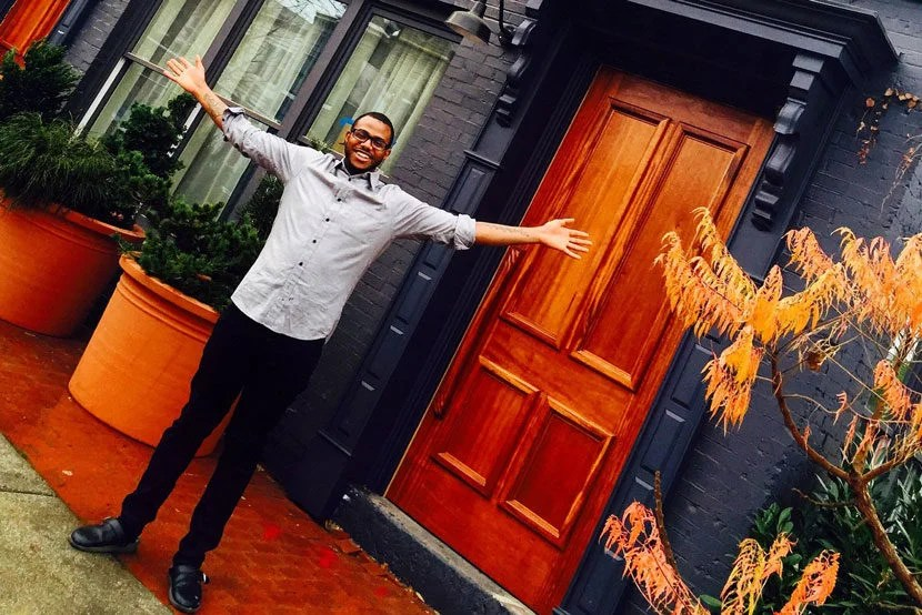 """Chef Kwame Onwuachi of DC's Shaw Bijou. Image courtesy of <a href=""""https://www.facebook.com/theshawbijou/"""" target=""""_blank"""">the restaurant's Facebook page</a>."""