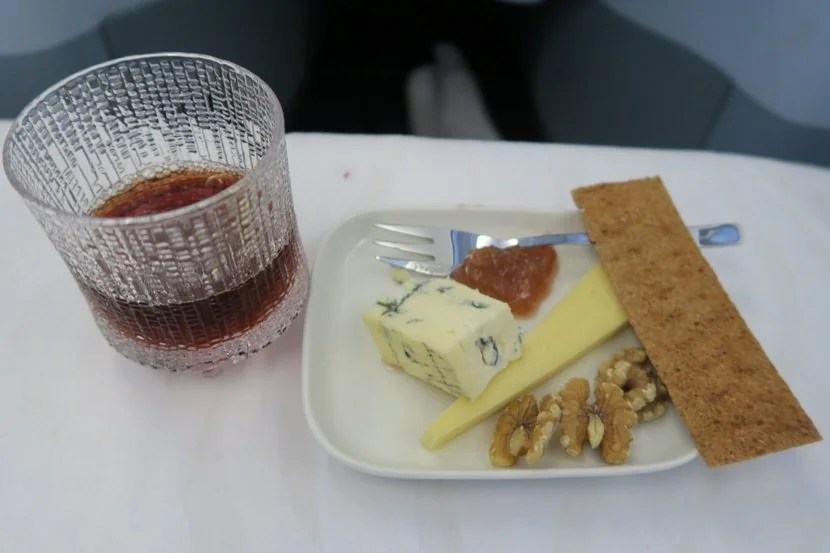 Cheese, nuts and a port wine topped off the excellent dinner.