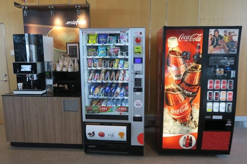 Don't have time to eat before your flight? There are vending machines right at gate 37!