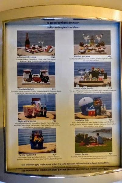 Ritz-Carlton Laguna Niguel inspiration menu